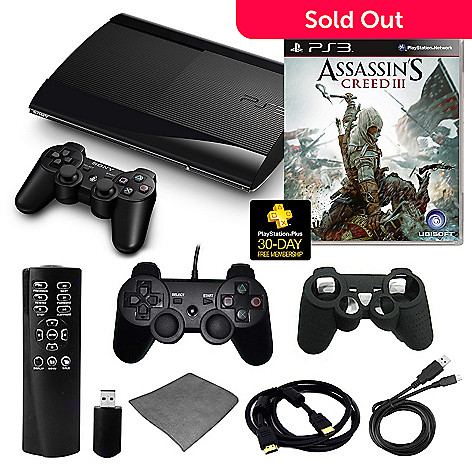434-637 - Playstation 3 Slim 500GB Assassin's Creed III Bundle w/ Accessories