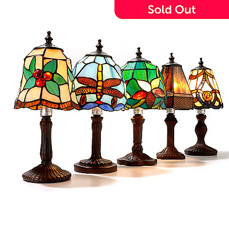 434-670 - Tiffany-Style 11.5'' Fantastic Five Collection Set of Five Table Lamps
