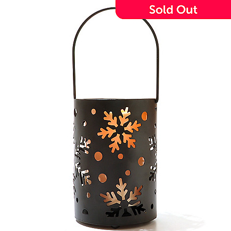 434-680 - Holiday Flameless LED Candle Snowflake Lantern w/ Timer