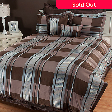434-721 - North Shore Linens™ ''Dakota'' Microfiber Eight-Piece Bedding Ensemble