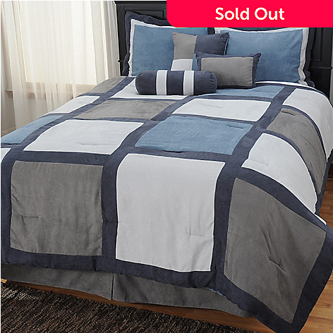 434-722 - North Shore Linens™ ''Pinto'' Microfiber Seven-Piece Bedding Ensemble