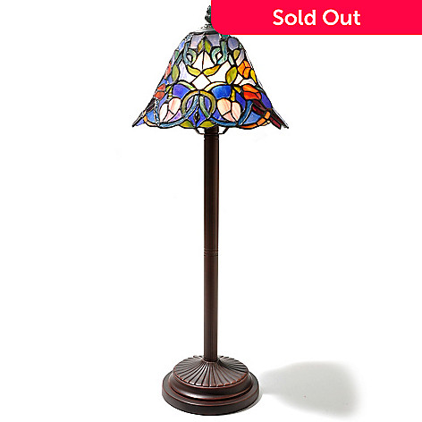 434-811 - Tiffany-Style 26'' Delarosa Stained Glass Buffet Lamp