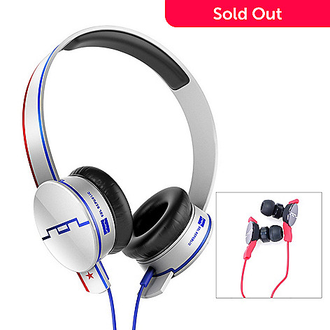 434-814 - SOL REPUBLIC Tracks HD V10 Interchangeable On-ear Headphones & Amps Earbuds