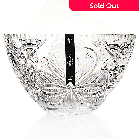 434-825 - House of Waterford Crystal Irish Shamrock 10.75'' Crystal Bowl