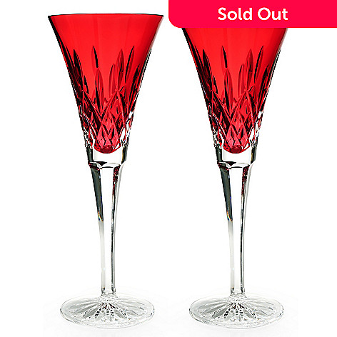 434-826 - Waterford® Crystal Lismore Crimson Set of Two 6 oz. Flutes