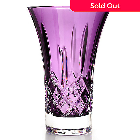 434-827 - Waterford Crystal Color Me Lismore 8'' Amethyst Flared Vase