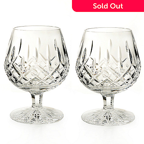 434-828 - Waterford Crystal Lismore Set of Two 12 oz. Boxed Brandy Glasses