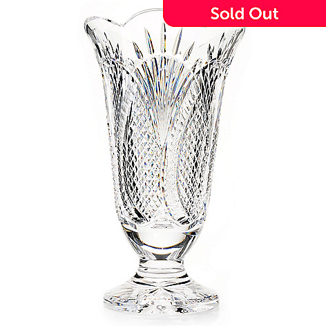 434-836 - House of Waterford Seahorse 14'' Crystal Vase