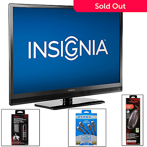 434-843 - Insignia™ 39'', 46'' or 55'' Full HD 1080p 120Hz LED TV w/ Three-Piece Accessories Pack