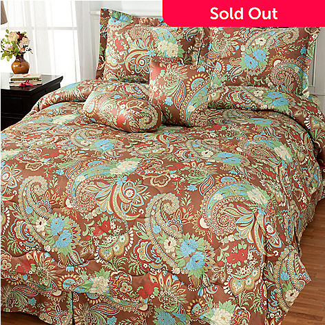 434-845 - North Shore Living™ Six-Piece Paisley 300TC Cotton Bedding Ensemble