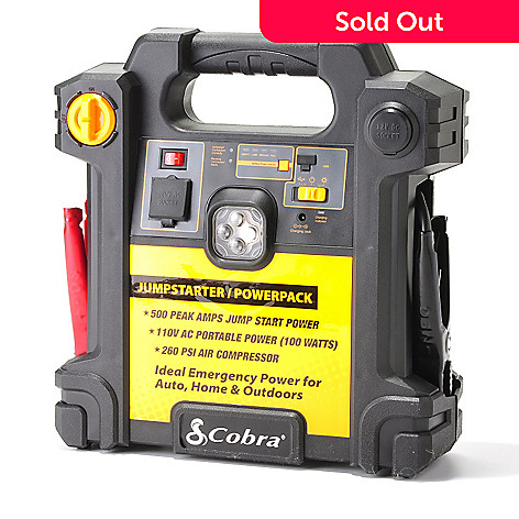 434-905 - Cobra® 500 Amp Jump Starter w/ Emergency Power & Built-in Air Compressor