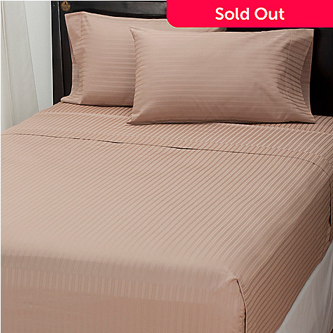 434-908 - North Shore Linens™ 800TC Egyptian Cotton Damask SureSoft™ 4-Piece Sheet Set