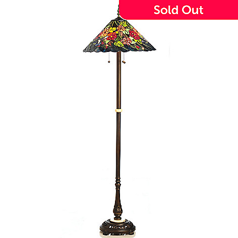 434-916 - Tiffany-Style 64.5'' Hummingbird Stained Glass Floor Lamp