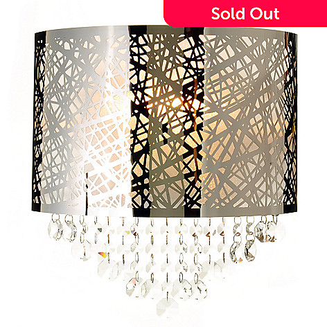 434-930 - Style at Home with Margie 12'' Crystal Couture Geometrical Wall Lamp