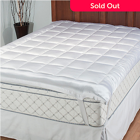 434-950 - Cozelle® Microfiber Quilted Satin Mattress Topper