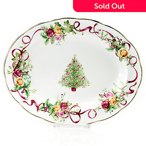 434-959 - Royal Albert® Old Country Rose Bone China 13-3/4'' Holiday Platter