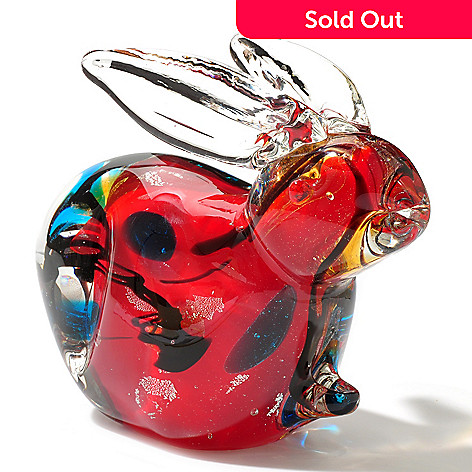 434-967 - Favrile 4.5'' Art Glass Hand-Blown Rabbit Figurine