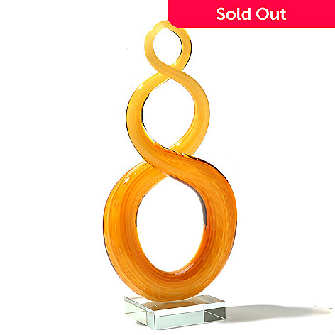 434-970 - Favrile 11.5'' Hand-Blown Art Glass Swirl Sculpture