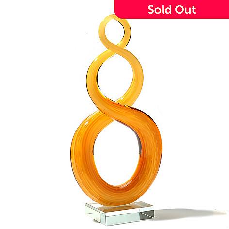 434-970 - Favrile 11.5'' Hand-Blown Art Glass Swirl Sculpture