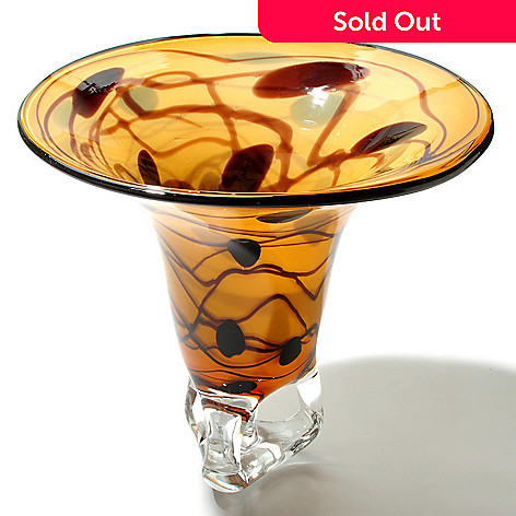 434-974 - Favrile 11.5'' Hand-Blown Art Glass Artistic Vase