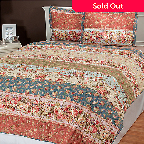 434-980 - North Shore Linens™ ''Alexandra'' Three-Piece Coverlet Set