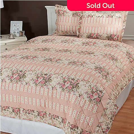 434-981 - North Shore Linens™ ''Bloomfield'' Three-Piece Coverlet Set