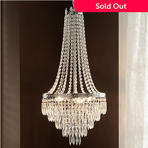 435-028 - Crystal Lighting Statements 33'' Empire-Style Crystal Glass Chandelier