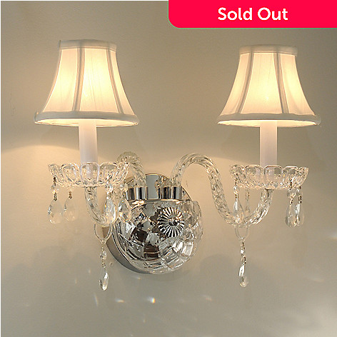435-031 - Gallery 10'' Venetian-Style Crystal Glass Wall Sconce w/ Shades