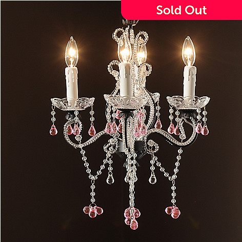 435-032 - Gallery 20'' Garden Collection Wrought Iron & Crystal Glass Chandelier