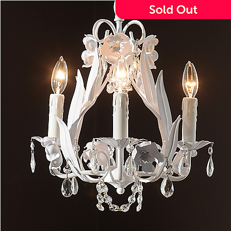 435-035 - Gallery 15'' Garden Collection Wrought Iron & Crystal Glass Chandelier