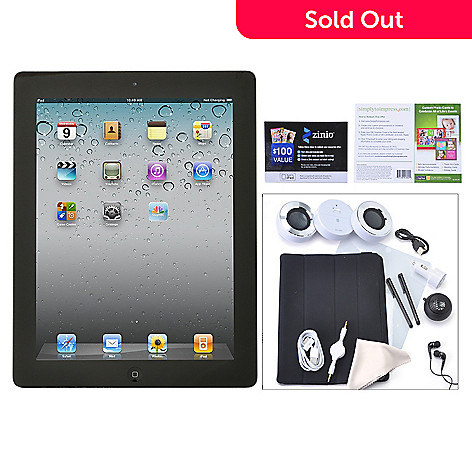 435-043 - Apple iPad w/ Retina Display 3rd Generation Wi-fi Only Tablet w/ Accessories, Smart Cover & Speaker