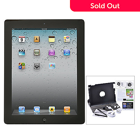 435-044 - Apple iPad w/ Retina Display 3rd Generation Wi-fi Only Tablet w/ Accessories, Stand Case & Speaker