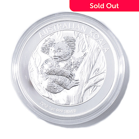 435-060 - 2013 1 oz Silver BU Australia Koala Bullion Coin w/ Display Box