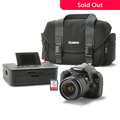 435-124 - Canon EOS Rebel T3 12.2MP 2.7'' Screen Digital Camera w/ Printer, Carrying Case & 8GB SD Card