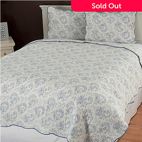435-134 - North Shore Linens™ ''Lismore'' Cotton Three-Piece Quilt Set