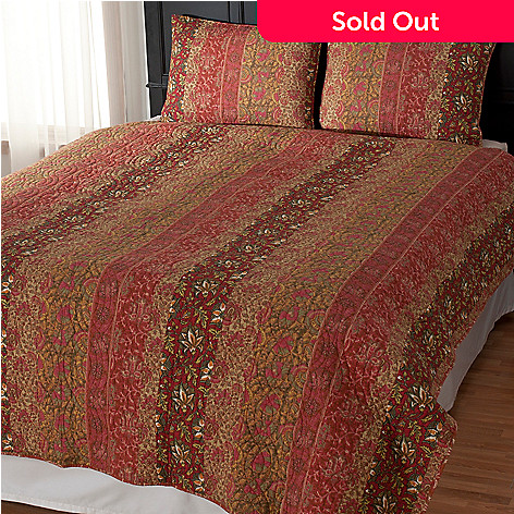 435-138 - North Shore Linens™ ''Sahara'' Cotton Three-Piece Coverlet Set
