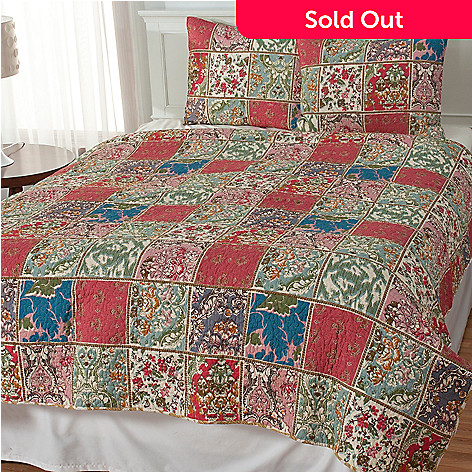 435-140 - North Shore Linens™ ''Kismet'' Cotton Three-Piece Coverlet Set