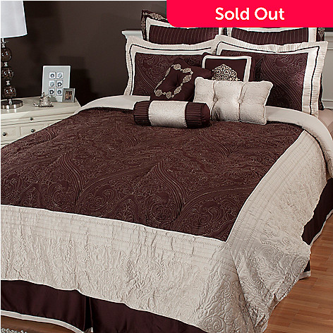 435-160 - North Shore Linens™ ''Carlton'' Microfiber 10-Piece Bedding Ensemble