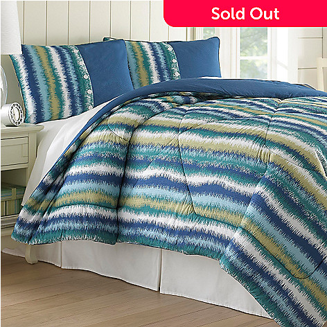 435-162 - North Shore Linens™ ''Bahama Stripe'' Seersucker Three-Piece Comforter Set