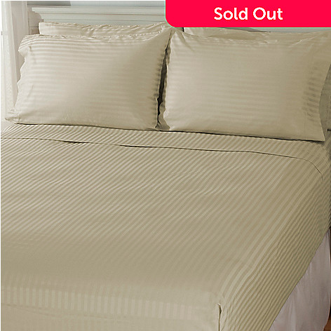 435-163 - Grand Suites® 500TC Damask Supima Cotton Six-Piece Sheet Set
