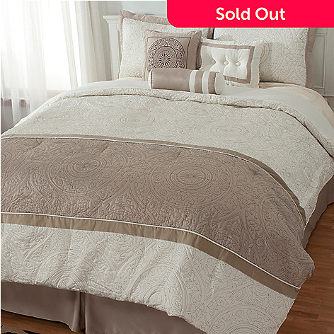 435-215 - North Shore Linens™ ''Vincenza'' Seven-Piece Bedding Ensemble