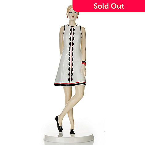 435-231 - Royal Doulton Fashion of the Decades: 1960s ''Penny'' Bone China Figurine - Signed