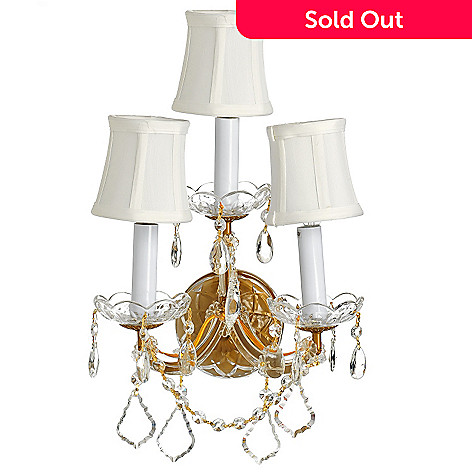 435-293 - Gallery 12'' Maria Theresa Crystal Glass Wall Sconce w/ Shades