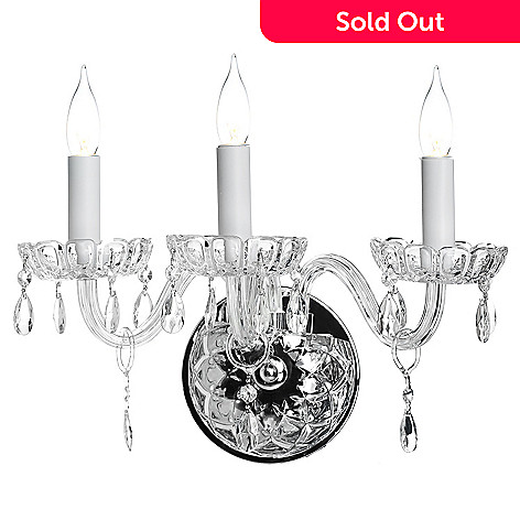 435-299 - Gallery 11'' Royal Collection Crystal Glass Three-Arm Wall Sconce