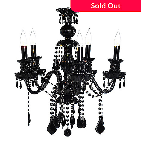 435-301 - Gallery 28'' Royal Collection Crystal Glass Five-Arm Chandelier