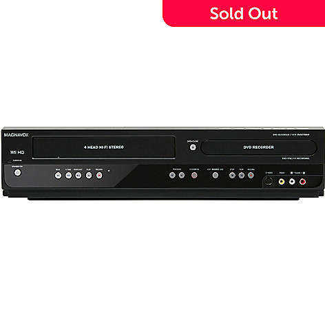 435-324 - Magnavox 1080p Up-Conversion DVD Recorder/VCR Combo