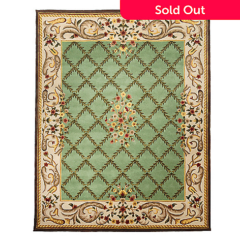 435-404 - Global Rug Gallery™ Flowering Lattice 2' x 8' or 8' x 10' Hand Tufted Wool Rug