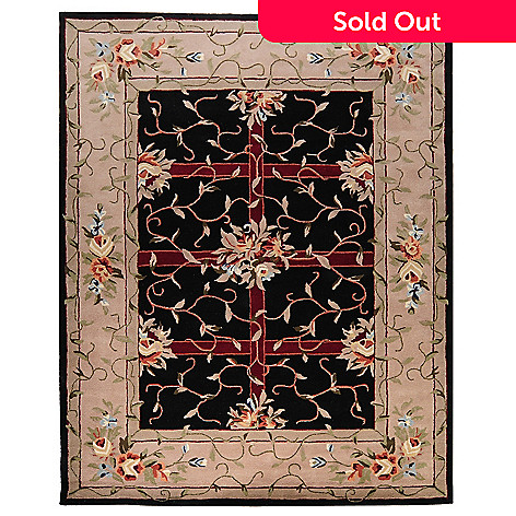 435-405 - Global Rug Gallery Petals & Leaves 3' x 5' or 8' x 10' Hand Tufted Wool Rug