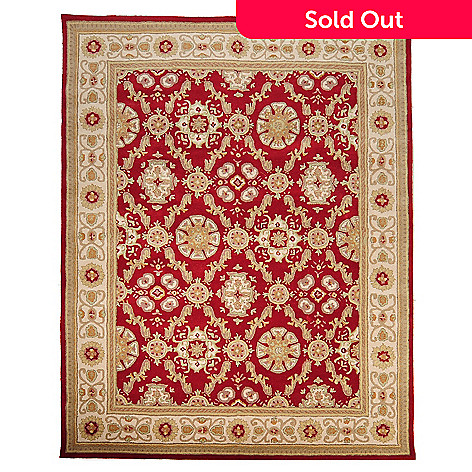 435-406 - Global Rug Gallery™ Frosted Blossoms 7' x 9' Hand Tufted 100% Wool Rug