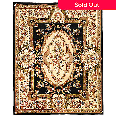 435-408 - Global Rug Gallery Versailles Savonnerie 2' x 7' or 8' x 10' Hand Tufted Wool Rug